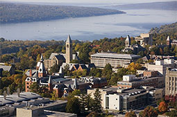 41. Aerial Cornell and Lake Cayuga