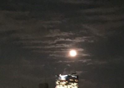 78. Rare 'Super Moon' over Roppongi Hills from  Our 5th Floor Roof Terrace